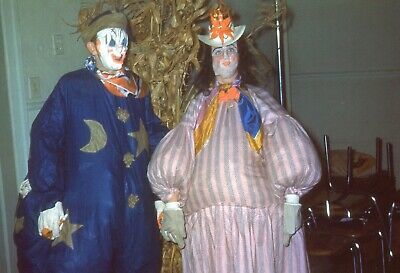 $9.99 • Buy H022 35mm Slides Halloween Costume Party Clown & Scarecrow