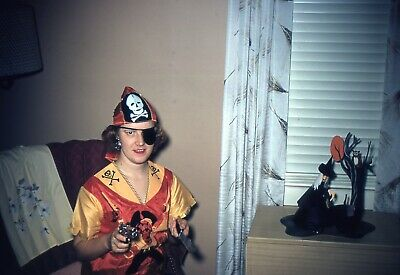 $9.99 • Buy H059 35mm Slides 1950's Halloween Costume Lady Pirate