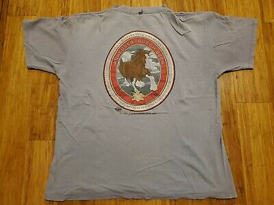 $ CDN12.67 • Buy Vintage 1997 Distressed Budweiser Clydesdales T Shirt XL Paint Stains