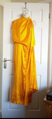 Asos Satin Drape 'Grecian' Style One Shoulder Dress Size 12 • 6.50£