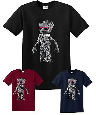 DJ BABY GROOT STANDING T-Shirt Headphones Music Galaxy Party Disco Mens Yoda Top • 9.95£