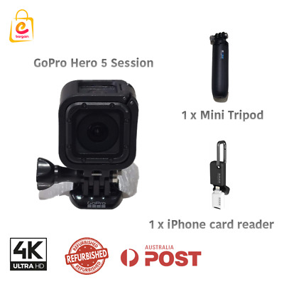 AU349 • Buy Refurbished GoPro HERO5 Session Waterproof Camera With 1 Mini Tripod 1 Card Read