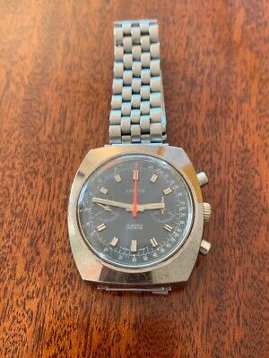 Vintage Mechanical 1960s Lanco Swiss Chronograph, 39mm Exc Crown • 460£