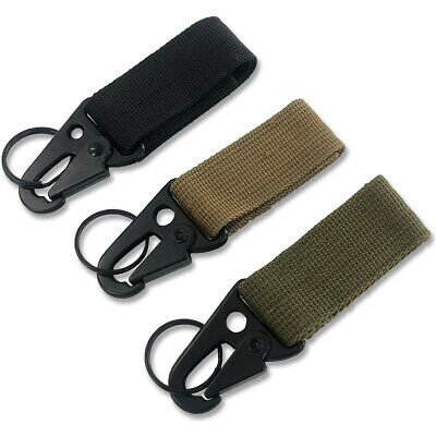 3PCS Military Nylon Key Hook Webbing Molle Buckle Hanging Belt Carabiner Clip • 2.99£