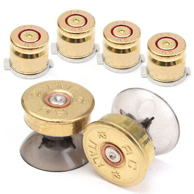 AU12.22 • Buy 4x Gold Metal Buttons Shell+2x Thumbstick Replacement Kit For PS4/PS3 Controller