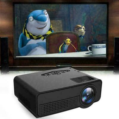 AU47.89 • Buy Mini Portable Pocket Projector HD 1080P LED LCD Home Theater Video USB VGA AV