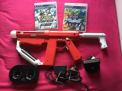 Reduced Ps3 Move Sharp Shooter Gun Bundle With Games & Controllers Ps3 • 94.95£