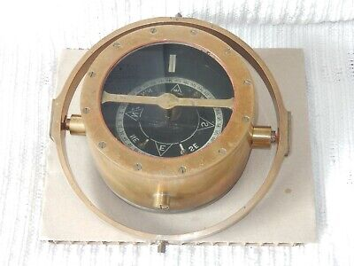 Original Antique Ship's Compass In Metal Gimbal Mounting Ring, Fluid Filled • 10£
