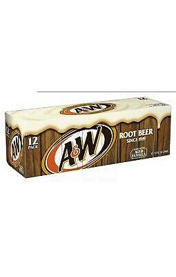 A&W Root Beer Original  355ml Cans Soft Fizzy Drink Soda • 14.99£