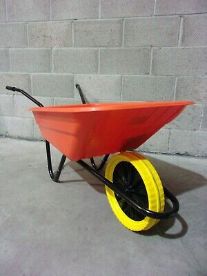 £59.95 • Buy Walsall 90L Shire Builders Orange Wheelbarrow In A Box 125kg Puncture Proof