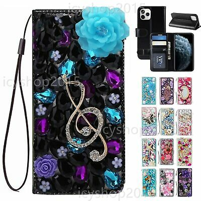 AU33.20 • Buy For Sony  Luxury Leather Flip Bling Diamonds Wallet Case Phone Cover With Straps