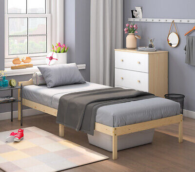 3ft Single Standard Bed Frame Simple Wooden Bed Frame Fits Mattress 190 X 90cm • 39.99£