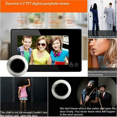 4.3  TFT GSM Digital Peephole Viewer 140° Door Eye Doorbell Video Color Camera • 32.99£