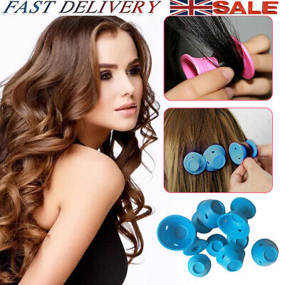 10/20/30 Magic Rollers DIY Silicone Hair Curlers Styling Care No Clip No Heat UK • 7.28£