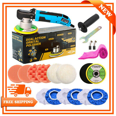6  Dual Action Random Orbital Car Polisher Buffer Sander Polishing Pads Wax Kit • 60.99£