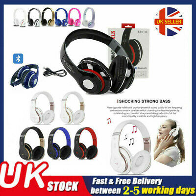 £14.89 • Buy Wireless Bluetooth Headphones With Noise Cancelling Over-Ear Stereo Earphones UK