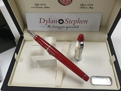 Aurora Ipsilon Red And Sterling Silver Fountain Pen NEW With Boxes • 129£