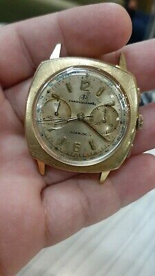 $ CDN429.89 • Buy Vintage OLLECH & WAJS Chronograph 37mm Men Watch NOT WORKING FOR PARTS OR REPAIR