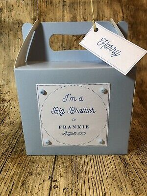 I'm A Big Brother Personalised Big Brother Gift Box Gift Bag New Baby Gift • 1.99£