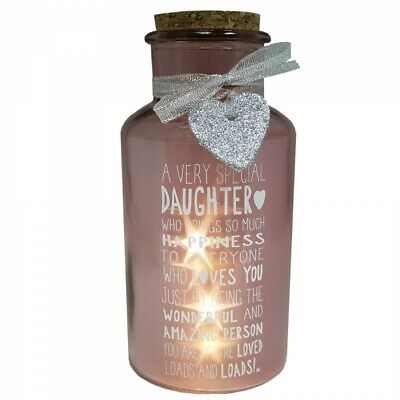 Special Daughter Light Up Jar Messages Of Love Gift Range Birthday Christmas Gif • 9.99£