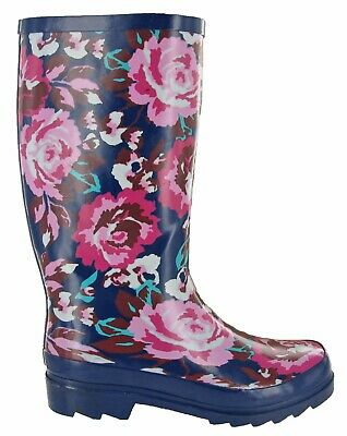Ladies Mudrocks Rubber Wellington Boots Floral 3/4 Flower Print Wellies UK 4-8 • 19.45£