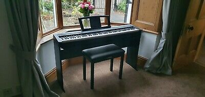 Yamaha P45 Digital Piano With L85 Piano  Stand, B1-B Piano Stool & Accessories • 399£