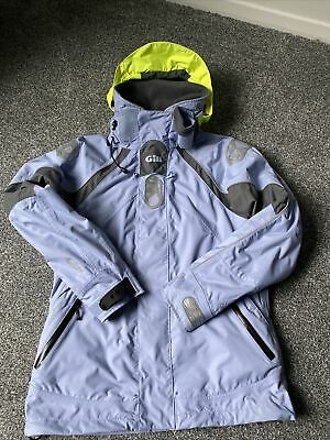 Gill Waterproof Jacket Size 10 Breathable Coastal Key West Lilac Sailing • 49.99£