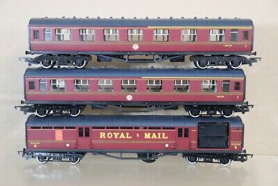 HORNBY RAKE Of 3 BR MAROON STANIER COMPOSITE & ROYAL MAIL COACH Nx • 59.50£