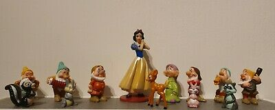 Disney Snow White And The Seven Dwarfs & Woodland Animals Figures  • 12.50£