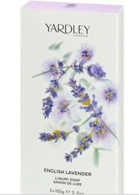 Yardley Of London English Lavender Luxury Soaps For Her 3x100g • 4.99£