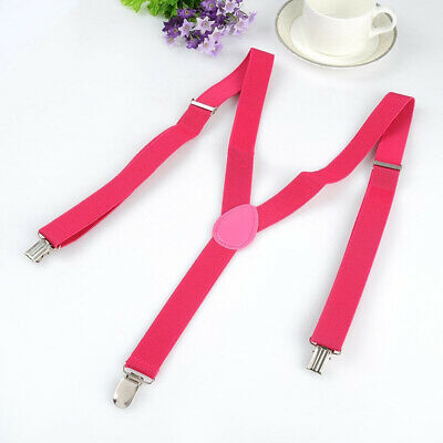 $5.99 • Buy 35mm Unisex Braces, Suspenders Heavy Duty Adjustable With Different Colors