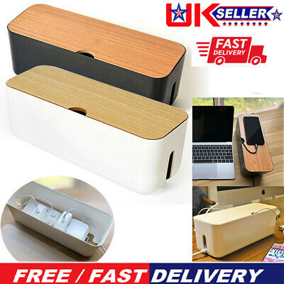 Cable Storage Box Case Power Strip Cord Wire Management Socket Cable Tidy Box UK • 11.09£