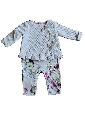 Ted Baker Baby Girls Outfit Age 0-3 Months • 4.99£