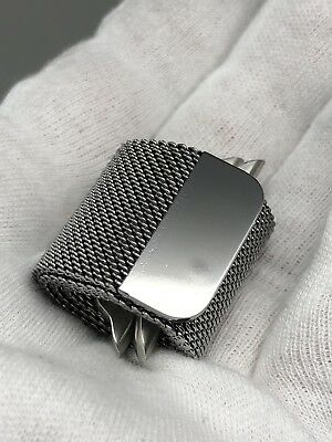 AU92.20 • Buy Authentic Original Apple Milanese Loop Watch Band Silver - 42 44 - Brush Finish