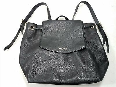 $ CDN13.08 • Buy Kate Spade Womens Black Leather/Polyester Backpack Strapped Purse