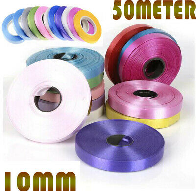$3.51 • Buy 10mm EXTRA Wide Luxury Balloons Curling Ribbon 50 Meters Party Wrapping Baloon