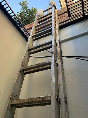 Youngman Trade 200 2-section 2x12 Rung 6.2m Ladder, Well Used But It's A Ladder! • 0.99£