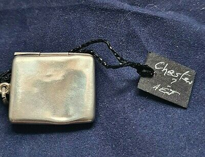 Antique  Envelope Shaped Sterling Silver Stamp Case / Box 3cm In Width  • 30£