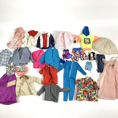 $ CDN45.77 • Buy Lot Of Vintage Barbie And Ken Marked Clothing Lot Of 24 Pieces