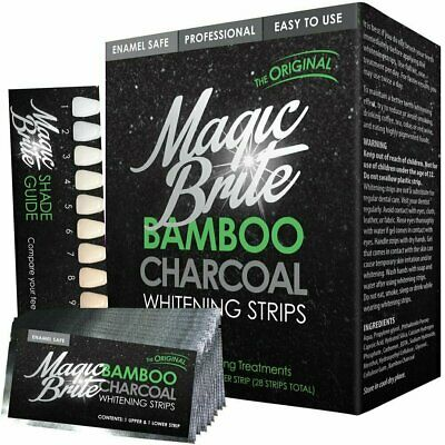 AU17.03 • Buy MagicBrite Bamboo Charcoal Natural Teeth Whitening Strips - 28 Strips