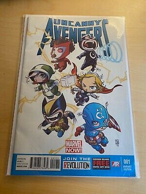 Uncanny Avengers, Marvel Now! Cover By Skottie Young, Mint Condition • 9.99£