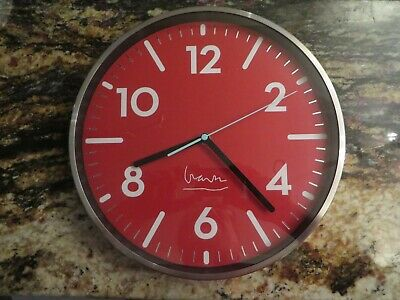 Projects Witherspoon Red Wall Clock Michael Graves New In Package • 216.89£