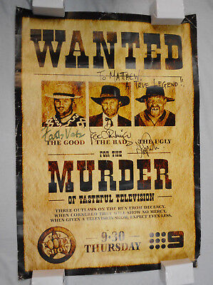 AU75 • Buy #pb6.    Signed Rugby League  Footy Show  Wanted  Poster
