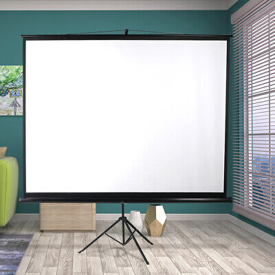 AU106.99 • Buy Projector Screen Tripod Stand 100 Inch Home Pull Down Outdoor Screens 3D Cinema