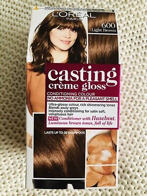 Loreal Casting Creme Gloss Semi Permanent Hair Colour Light Brown 600 New In Box • 10£