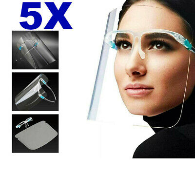 5 PACK Full Face Shield Visor Protection Mask Shield Safety Clear Anti Fog PPE  • 5.39£