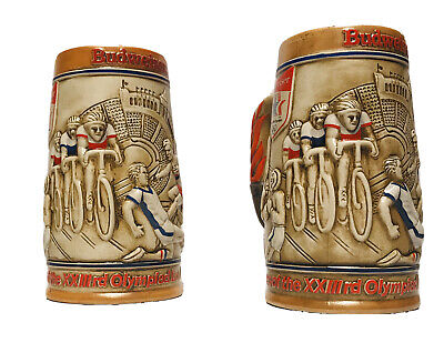 $ CDN13.05 • Buy Budweiser Stein Mug 1980 Los Angeles Olympic Games Committee BAR / PROPS 6 3/8