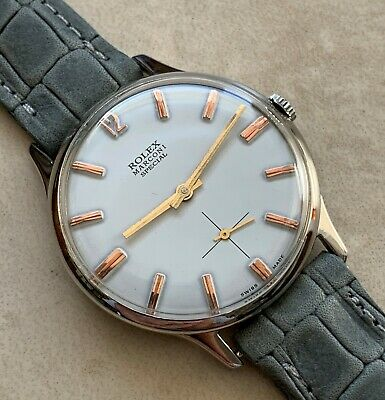 $ CDN888.52 • Buy Vtg Rolex Marconi Special White Dial Nickel Plated Case From 1940 Aprox