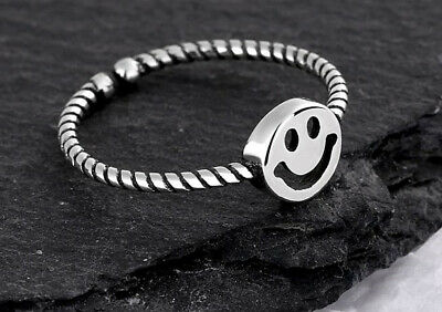 Bear 925 Sterling Silver Adjustable Band Thumb Rings Womens Girl Jewellery Gift • 2.97£