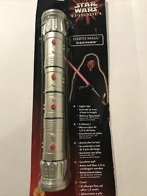 Star Wars Darth Maul Lightsaber Red Double Side Rubie's Electronic Cosplay Toy • 37.46£